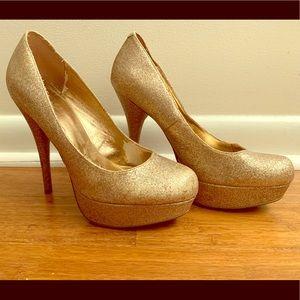 Gold Sparkle Heel